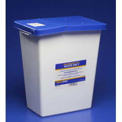 MON49872800 - Cardinal Health - SharpSafety™ Pharmaceutical Waste Container, Gasketed Hinged Lid, 12 Gallon