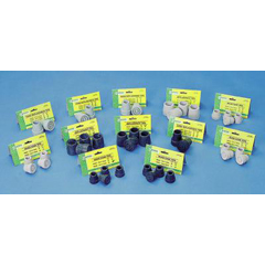 MON50013800 - Essential Medical Supply - Rubber Quad Replacement Cane Tips (T50012BL), 4 EA/PK