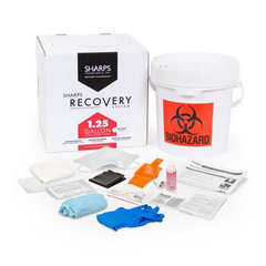 MON50102800 - Sharps Compliance1.25-Gallon Spill Kit Sharps Recovery System