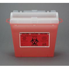MON50312800 - Bemis Health CareMulti-purpose Sharps Container Wall Safe® 1-Piece 5 Quart Red Base Horizontal Entry Lid, 32EA/CS