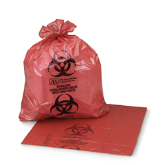 MON50421100 - McKessonInfectious Waste Bag Medi-Pak® ULTRA-TUFF® 11 X 14 Inch Printed, 50/BX