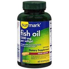 MON50762700 - McKessonsunmark® Fish Oil Dietary Supplement 1200 mg Softgels, 60 per Bottle