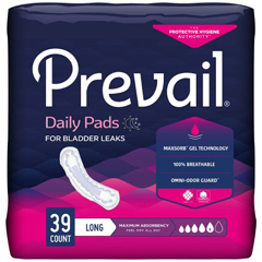 MON50913101 - First QualityPrevail® Bladder Control Pads - Maximum Long - Jumbo Pack, 39 EA/PK