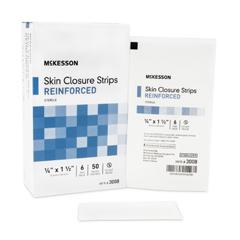 MON51242000 - McKesson - Skin Closure Strip 1/4 x 1-1/2 Reinforced Strip White
