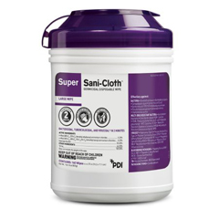MON51721100 - Nice PakSuper Sani-Cloth Germicidal Disp Cloth Pop-Up Tub 6X7 Use On Surf or Equip