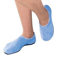 MON51851000 - PBESlippers Pillow Paws Medium Azure Ankle High