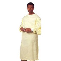 MON52228500 - Fashion SealProtective Gown Large 1-Ply Fabric Yellow Adult