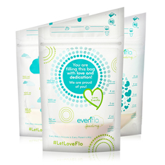 MON1106549CS - Evenflo - Breast Milk Storage Bags, 50/BX, 12BX/CS
