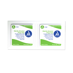 MON52542700 - DynarexAlcohol Prep Pad 70% isopropyl alcohol Large Sterile