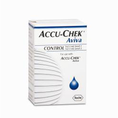 MON52862400 - RocheControl Solution Accu-Chek® Aviva Blood Glucose 2.5 mL High / Low, 1 EA/BX