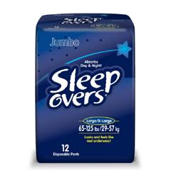 MON53013100 - First QualityProtective Underwear Pull On Sleep Overs® 45-65 lbs. Small / Medium, 15EA/PK 4PK/CS