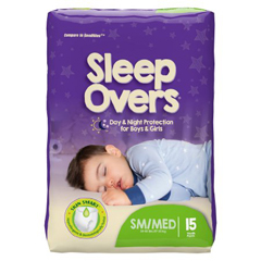 MON53013101 - First Quality - Sleep Overs™ Youth Pants, 45-65 lbs. S/M, 15 EA/PK