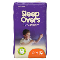 MON53023101 - First QualitySleep Overs™ Youth Pants, 65-125 lbs. Large/XL, 12 EA/PK