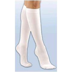 MON53150300 - JobstKnee High Stockings XLG White, 2EA/PR