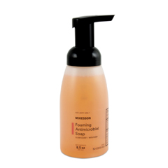 MON53231800 - McKessonAntimicrobial Soap Foaming Liquid 8.5 oz Pump Bottle Clean Scent