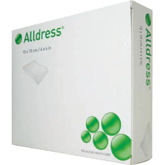 MON53292100 - Molnlycke Healthcare - Alldress Composite Dressing Size 4in x 4in Pad Size 2in x 2in