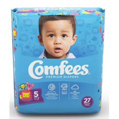 MON53533110 - AttendsBaby Diaper Comfees Tab Closure Size 5 Disposable Moderate Absorbency, 27/BG, 4BG/CS