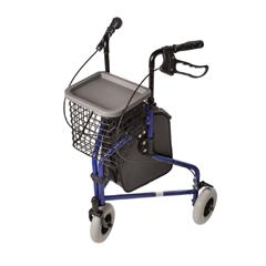 MON53783800 - Mabis Healthcare - 3 Wheel Rollator DMI Royal Blue Folding Aluminum Frame, 1/ EA