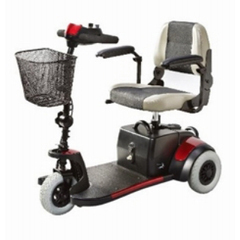 MON53993800 - Merits HealthElectric Scooter Mini-Coupe 3 Wheel Red