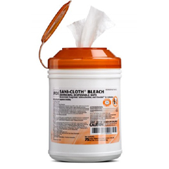 MON54071102 - PDISani-Cloth® Bleach Germicidal Disposable Wipes, Large Canister (75 Wipes)