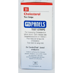 MON485414BX - Polymer Technology Systems - Reagent Test Strip PTS Panels® Cholesterol (CHO) For Cardiocheck PA 25 Strips