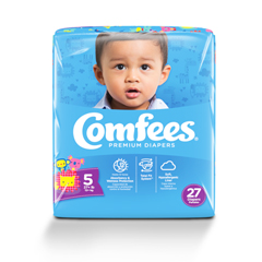 MON54143101 - AttendsBaby Diaper Comfees Tab Closure Size 5 Disposable