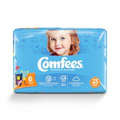 MON54243100 - AttendsBaby Diaper Comfees Tab Closure Size 6 Disposable