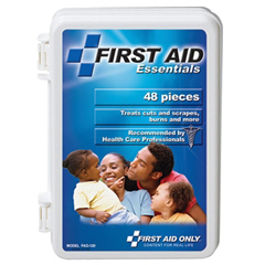 MON54322000 - First Aid OnlyFirst Aid Kit White Plastic Case