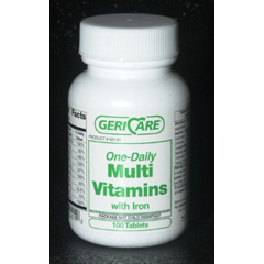 MON54602712 - McKessonMultivitamin with Iron Supplement Tablet 100 per Bottle
