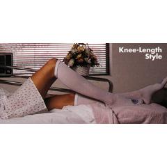 MON54630310 - Alba Healthcare - Anti-embolism Stockings C.A.R.E. Knee-high Large, Long White Inspection Toe