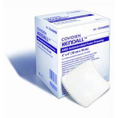 MON54802101 - Cardinal Health - Kendall™ Impregnated Foam Dressing AMD 4 x 8 Hydrophilic Polyurethane Foam Polyhexamethylene Biguanide (PHMB) Sterile
