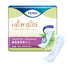 MON54833106 - SCABladder Control Pad TENA® Intimates™ 6 X 14 Inch Heavy Absorbency Dry-Fast Core™ One Size Fits Most Female Disposable, 14/PK