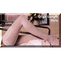 MON54870310 - Alba HealthcareAnti-embolism Stockings C.A.R.E. Thigh-high Large, Long White Inspection Toe
