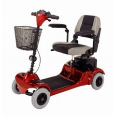 MON54993800 - Merits HealthElectric Scooter Mini-Coupe 4 Wheel Red / Blue