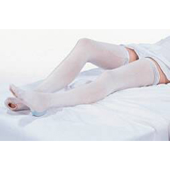 MON55100200 - Carolon CompanyAnti-embolism Stockings CAP Knee-high 2 X-Large, Regular White Inspection Toe