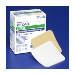 MON55352101 - MedtronicKendall™ Foam Dressing 3.5 x 3 Square Sterile