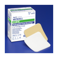 MON55482100 - Cardinal Health - Kendall™ Foam Dressing 4 x 8 Square Sterile