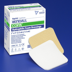 MON55572100 - MedtronicKendall™ Foam Dressing With Topsheet 6 X 6 Square, 10EA/BX