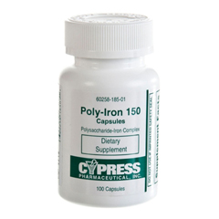 MON55662700 - CypressPoly-Iron 150 Supplement 150 mg Capsule 100 per Pack