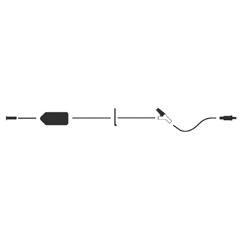 MON725044EA - ICU Medical - Extension Set LifeShield® 17 1 Port 5.1 mL Priming volume DEHP-Free