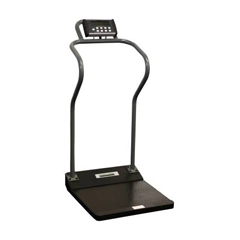 MON55863700 - Health O MeterDigital Platform Scale Health O Meter Antimicrobial LCD Display 1000 lbs. Capacity Black and Gray Battery Operated or Optional AC Adapter
