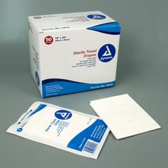 MON55981100 - DynarexGeneral Purpose Drape Towel Drape 18 W X 26 L Inch Sterile, 50EA/BX