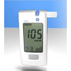 MON55992400 - BionimeBlood Glucose Meter GE100 5 Seconds Stores Up To 500 Results, 1-, 7-, 14-, 30-, and 90-Day Averaging Automatic Coding