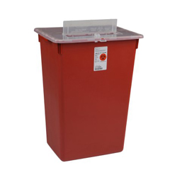 MON56552800 - MedtronicSharps-A-Gator™ Sharps Container, Split Lid, Red, 7 Gallon