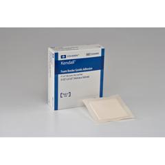 MON56652101 - MedtronicKendall™ Foam Dressing 5.5 x 5.5 Square Adhesive 4 x 4 Pad (55566BG)