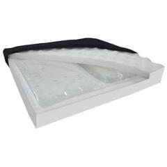MON56894300 - Tele-Made - Seat Cushion Comfort Zone 20 W X 18 D X 3 H Inch Gel / Foam, 1/ EA