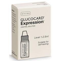 MON793447EA - Arkray - Diabetese Monitoring Control Solution Glucocard® Expression Blood Glucose Level 1 1 X 2.5 mL