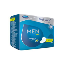 MON57733100 - HartmannBladder Control Pad MoliCare® Premium Light Absorbency One Size Fits Most Male Disposable, 14/BG