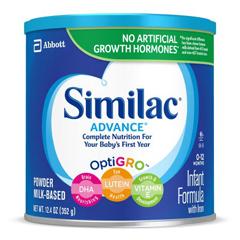 MON59572601 - Abbott NutritionInfant Formula Similac® Advance® 12.9 oz. Can Powder
