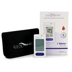 MON60012400 - McKessonBlood Glucose Monitoring System QUINTET AC 5 Seconds Stores Up To 500 Results Automatic Coding